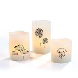 Set de 3 bougies LED en cire