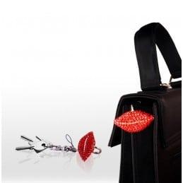 Porte-clés de sac Bouche Rouge