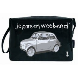 Trousse vinyle Je pars en week-end