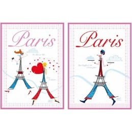 Duo Torchons de cuisine PARIS MA BELLE