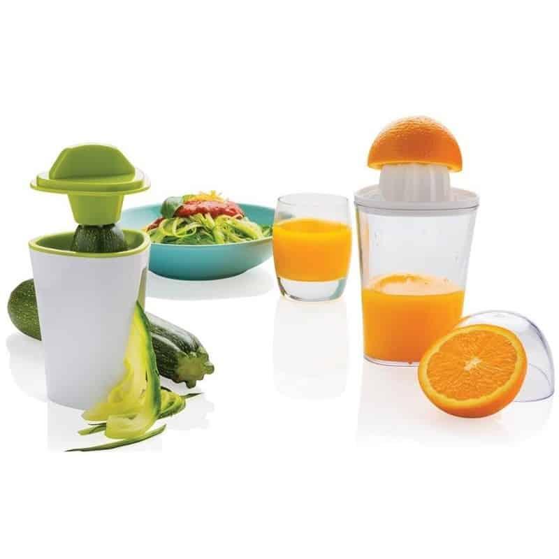 presse agrumes et coupe l gumes spirale 2 en 1 pour fruits. Black Bedroom Furniture Sets. Home Design Ideas