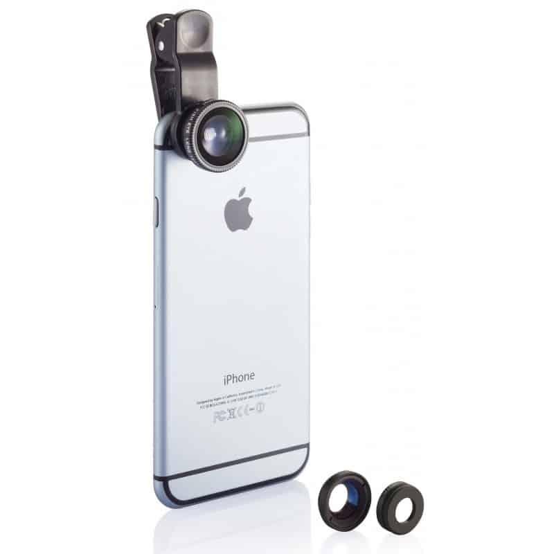 Kit de 3 lentilles pour caméra téléphone portable