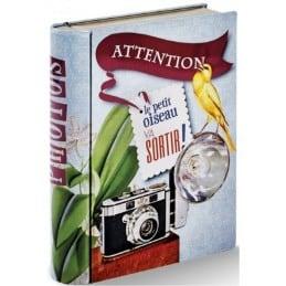 Livre boîte métal pour photos