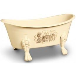 Porte savon émaillé baignoire original