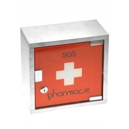 Armoire à Pharmacie métal rouge