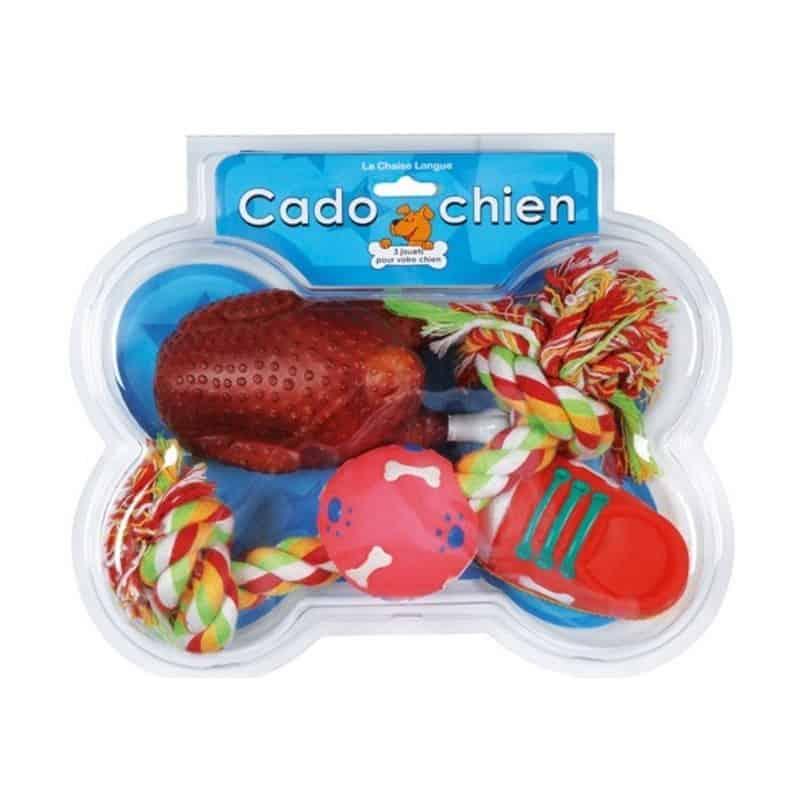 Set de 3 jouets pour chien