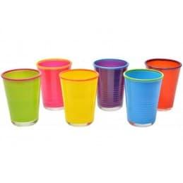 Set de 6 verres aux couleurs vives