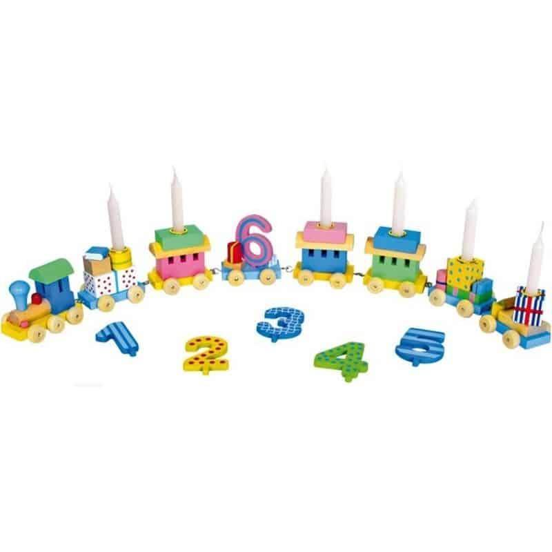 Train Anniversaire multicolore de 1 à 6 ans