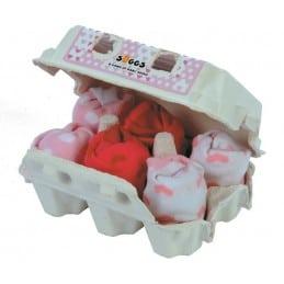 Boîte à Oeufs Chaussettes x6