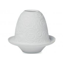Photophore blanc en céramique