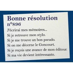 Carnet Bonne résolution N°896