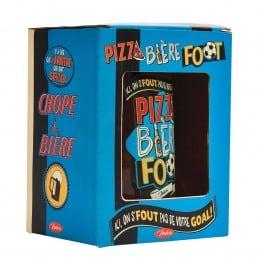 Chope à bière PIZZA BIERE FOOT