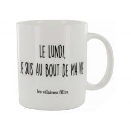 Mug LE LUNDI JE SUIS AU BOUT DE MA VIE