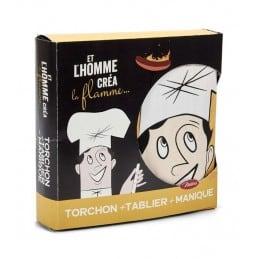Coffret cuisinier ET L'HOMME CREA LA FLAMME