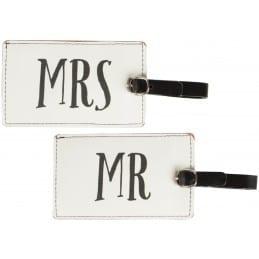 Etiquette de bagage Mrs&Mr  LOT DE 2
