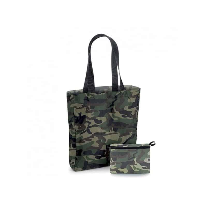 Sac shopping pliable camouflage