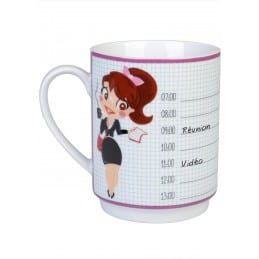 Mug de bureau planning personnalisable