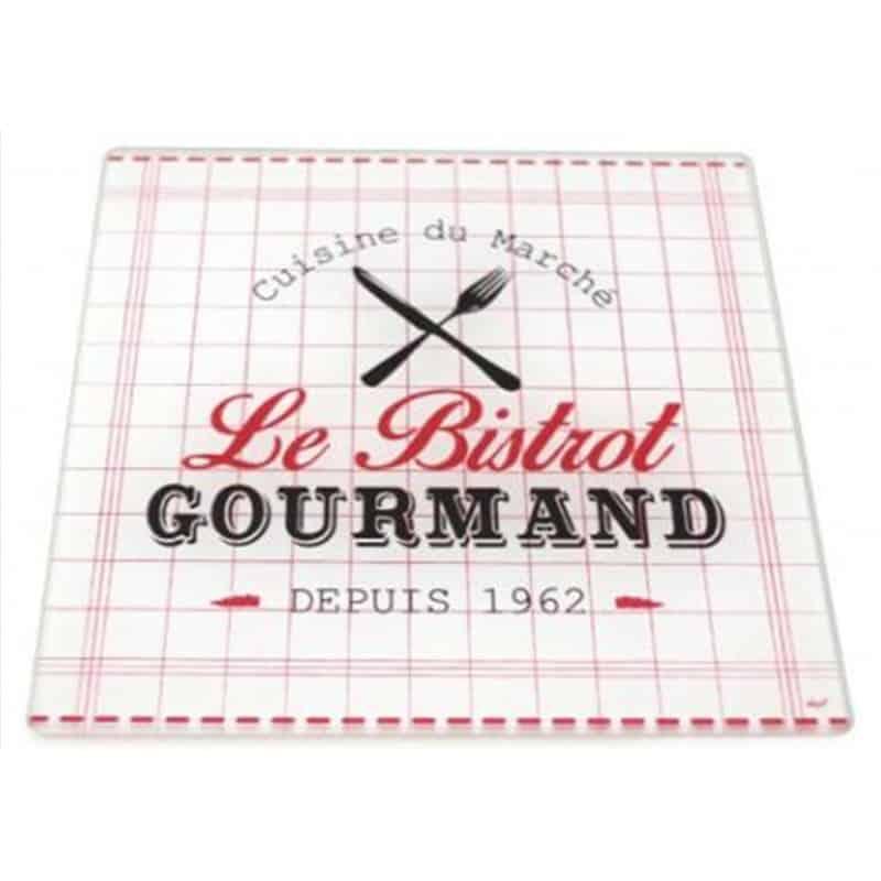 Dessous de plat LE BISTROT GOURMAND 20x20cm