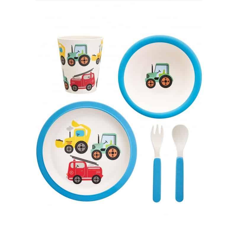 Coffret repas enfant 5 pièces Tracteur
