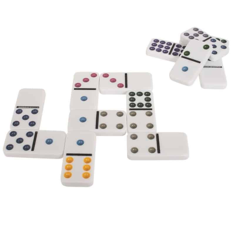 Jeu de dominos en couleurs