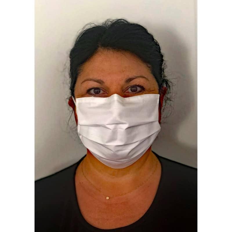 Masque GRAND PUBLIC anti-projection, lavable, réutilisable en coton PERCALE
