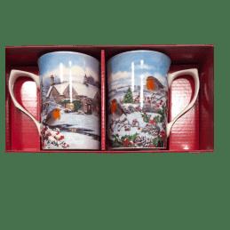 Coffret 2 mugs hiver