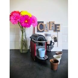 Service Espresso 4 tasses multicolores