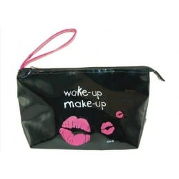 "Trousse Vinyle ""Wake up Make up"" noire"
