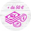 + de 50€