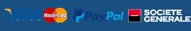 Paiement par Visa, Mastercard, PayPal, Cheque